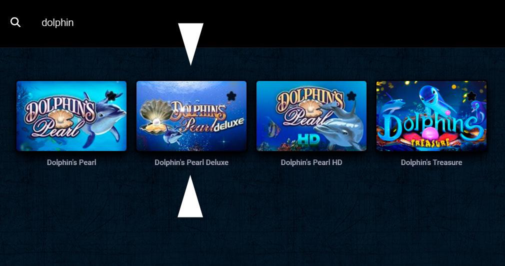 Схемы казино для Dolphins Pearl Deluxe
